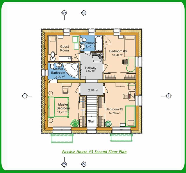 Passive House #3 Second Floor Plan