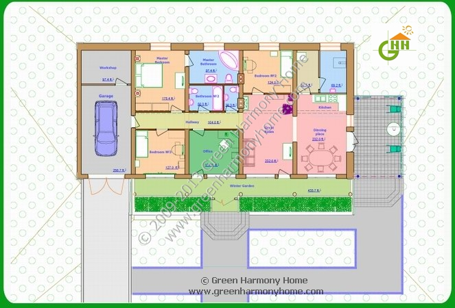 Green passive solar house plans 1 Solar passive home designs
