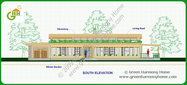 Green passive solar house plans 1 for One story passive solar house plans