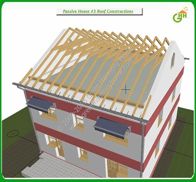 Green Passive Solar House #3 Roof Constructions, Passive Solar Home Plans